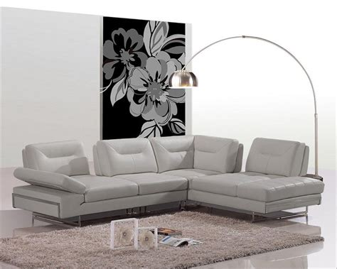 Modern Italian Sofa Modern Italian Leather Sectional Sofa W Adjustable Backrests 44l6022