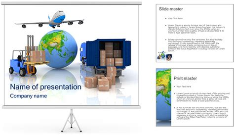 Logistic Powerpoint Template Backgrounds Id 0000003494 Logistics Ppt Template Free