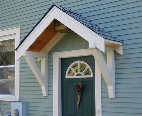 Exterior Casual Small Front Porch Decoration Using Single Small Exterior Door
