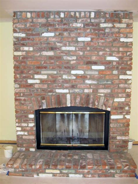 Staining Fireplace Brick by Exact Match Masonry Staining Llc
