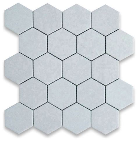 thassos white marble hexagon mosaic tile 3 inch honed
