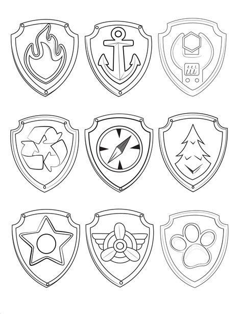 paw patrol coloring pages everest badge paw patrol coloring badges coloring pages