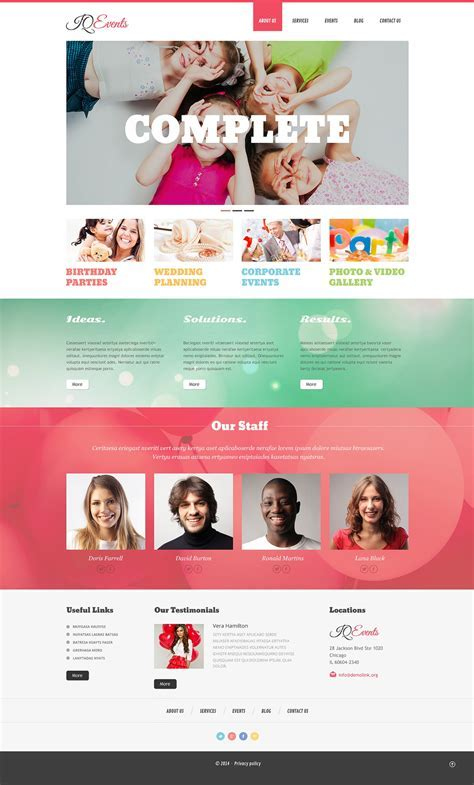 Event Planner Responsive WordPress Theme #49080