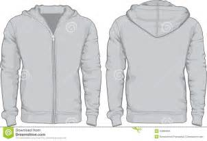 men s hoodie shirts template front and back views stock