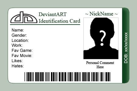 personal identification card template id card templates word excel sles