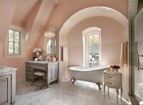 light pink bathroom feminine bathrooms ideas decor design inspirations