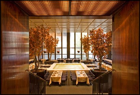 pool room at the four seasons philip johnson s four seasons restaurant in nyc s seagram s building has remained relatively