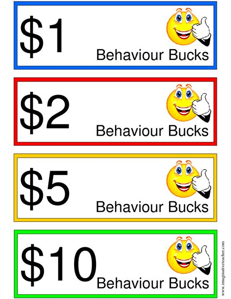 good behavior bucks items ship free printable chores
