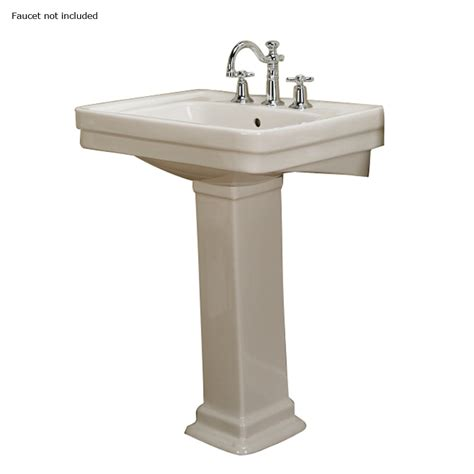 Complete Pedestal Sink Shop Barclay Sussex 34 5 In H Bisque Vitreous China