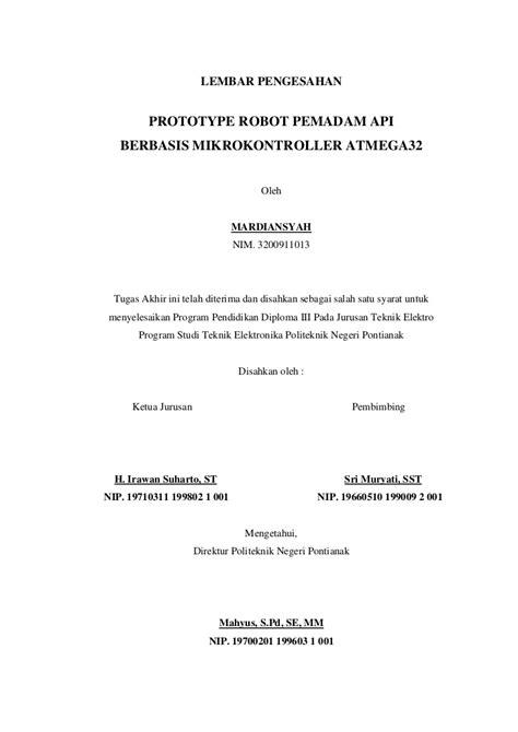 format proposal judul tugas akhir 1 halaman judul pengesahan pernyataan