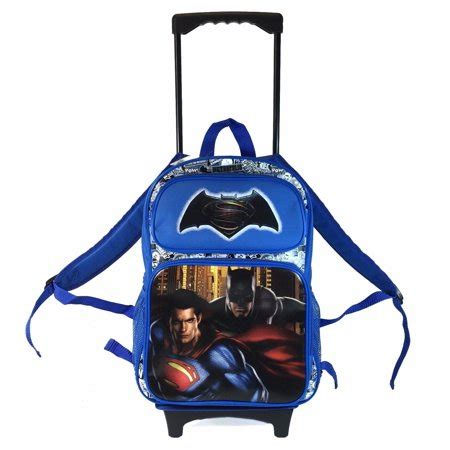 Batman V Superman 16 batman v superman black 16 quot large school rolling backpack