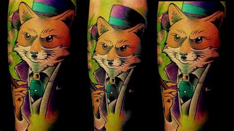 new school fox tattoo tiago sartori new school tattoo pimp fox youtube