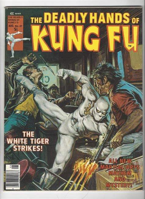 libro deadly hands of kung deadly hands of kung fu 27 1976 sons of the tiger and white tiger marvel by heroesrealm on