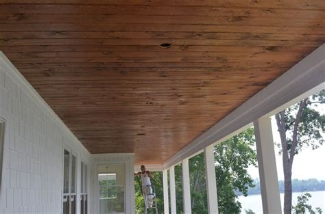 stained beadboard porch ceiling wood porch ceilings for the home