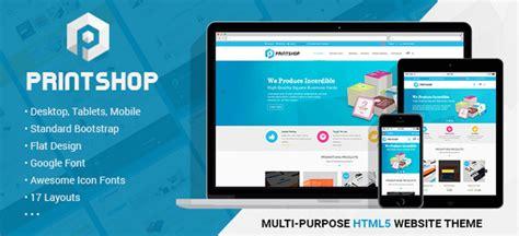 Printshop Responsive Html Printing Template By Netbaseteam Themeforest Printing Company Website Template