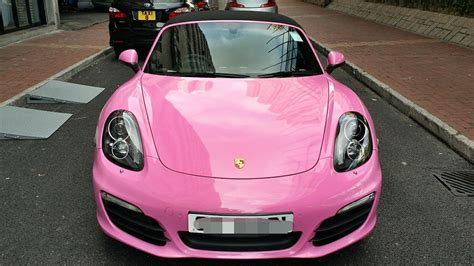 pink porsche convertible new porsche boxster s wrapped in pink for hong kong