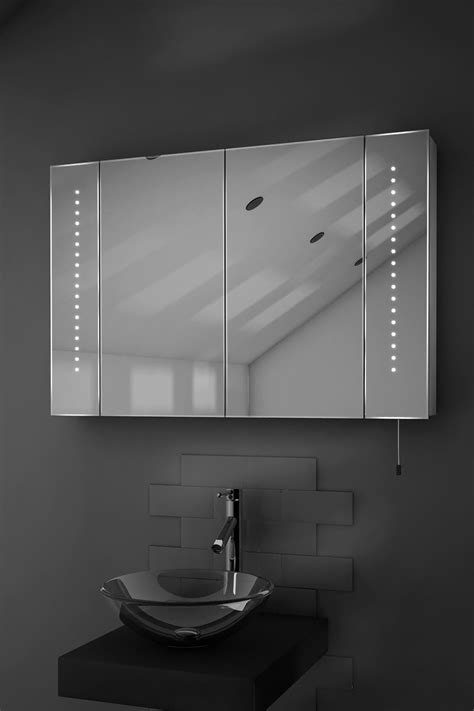 led battery bathroom mirrors hatha led illuminated battery bathroom mirror cabinet with