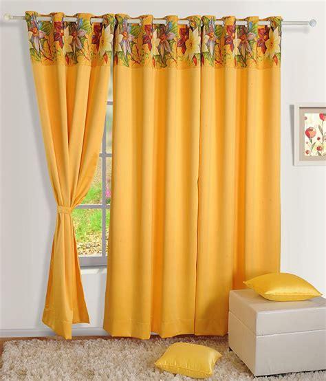 yellow silk drapes swayam yellow plain silk curtain buy swayam yellow plain