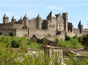View from below of carcassonne