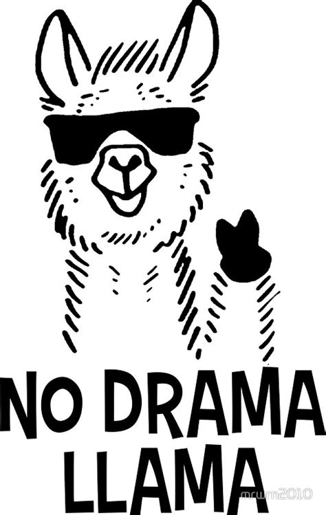 llama drama colouring for llama drama books quot no drama llama quot stickers by mrwrn2010 redbubble