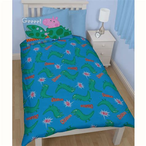 george pig bedroom accessories official peppa pig george bedding duvet cover sets room