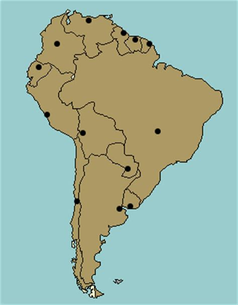 south america map quiz with capitals test your geography knowledge south america capital