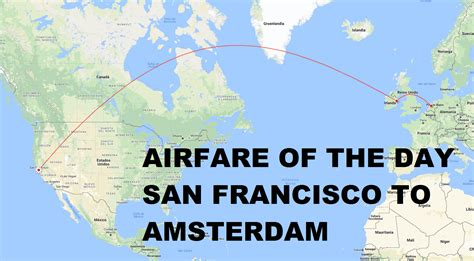 airfare of the day airways san francisco to amsterdam economy class 427 trip