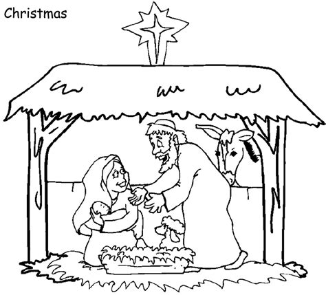 sunday school christmas bible coloring pages