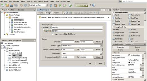 swing gui netbeans ide swing gui builder matisse features