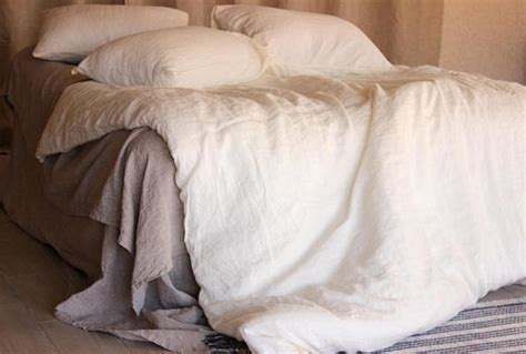 linen sheets set 4pc stone washed super soft luxury seamless stone washed ivory white linen duvet cover super soft linen