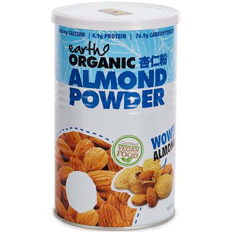 Organic Almond Powder by Earth Living Organic Almond Powder 500g Aus Beverages
