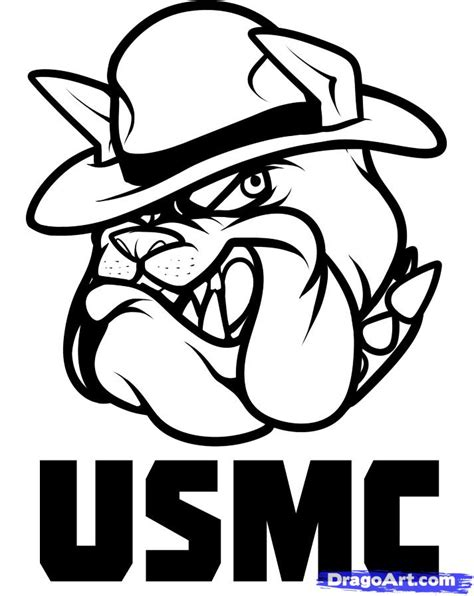 marine corps bulldog coloring page coloring pages