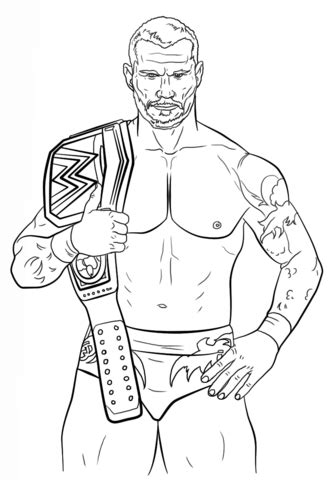randy orton coloring page free printable coloring pages