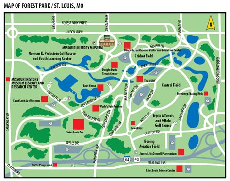 forest park map discover st louis forest park arch city homes
