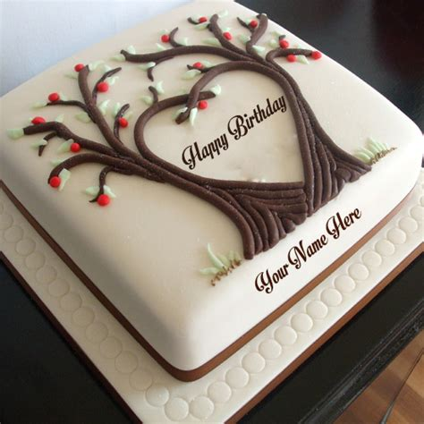 write   tree heart shaped birthday cake images