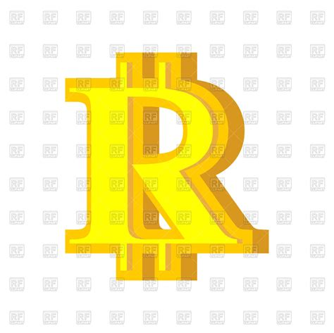R letter bitcoin font Royalty Free Vector Clip Art Image ... B