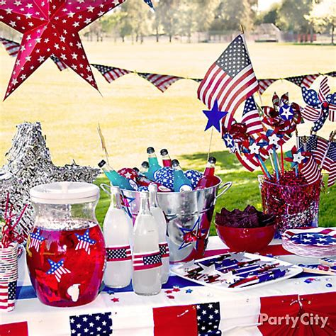 4th of july backyard decorations outdoor party drinks station idea patriotic party ideas 4th of july party ideas