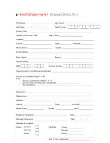 employee form template employee details form sles vlashed