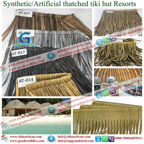 Tiki Bar Material Synthetic Thatch Thatched Bamboo Garden Gazebo Tiki Huts