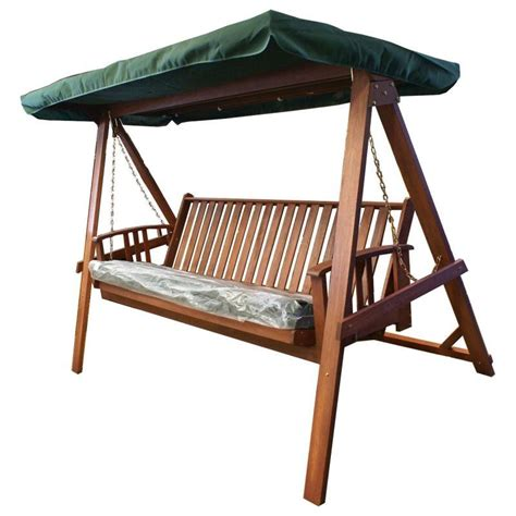 hanging wooden swing bench wooden outdoor swing bed bench canopy cushion buy