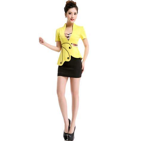 Setelan Baju Cewek Korea 2in1 Dress Jaket Limited Stok aliexpress buy 2016 korean occupation ol slim suit womens two clothing office