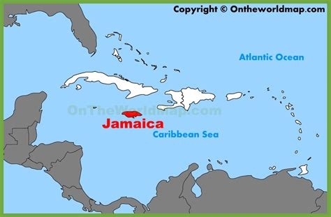 jamaica map map of jamaica from caribbean on line jamaica location on the caribbean map