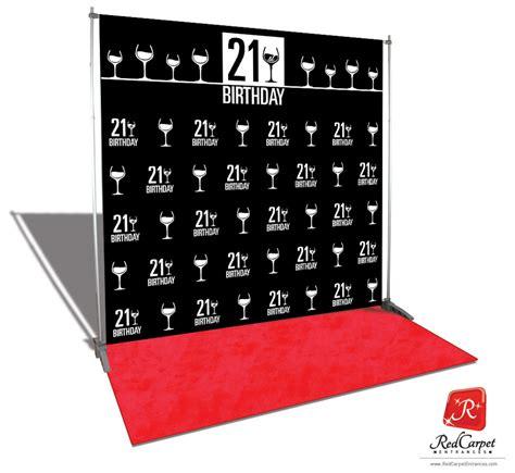 backdrop design for 50th birthday 21st birthday backdrop black 8x8 red carpet runner