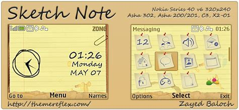 nokia c3 sketch themes sketch note themes themereflex