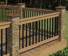 Patio Handrail by Redesigned Deckorators Postcover Has Look And Feel Of Real