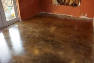 Acid stained concrete floors orlando interior concrete overlay
