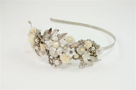 Bridal Headband Bridal Hair Accessories Vintage Shabby Chic Wedding Accessories