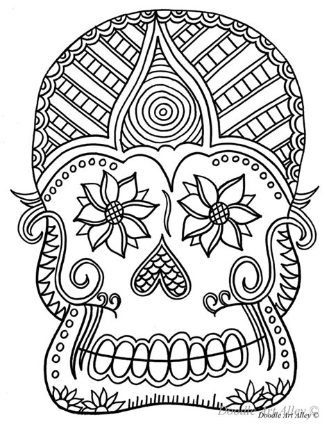 halloween coloring pages day of the dead doodskop kleutplaat feest halloween pinterest