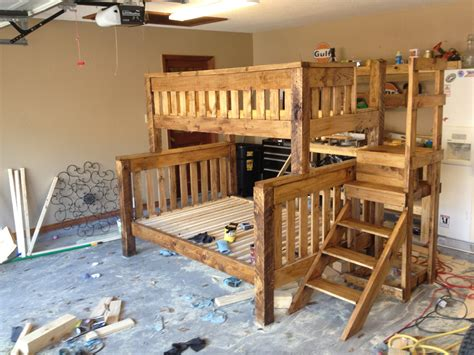bunk bed plans full  queen  woodworking
