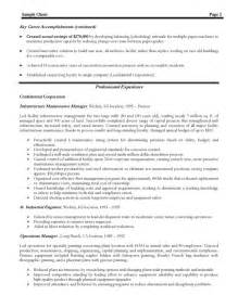 Experienced Resume Sample Experienced Manager Resume Best Resume Sample